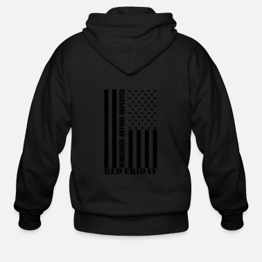 Stars And Stripes Red Friday Stars and Stripes - Men's Zip Hoodie