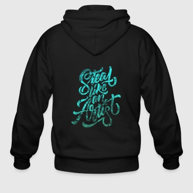 Think STEAL LIKE AN ARTIST - Men's Zip Hoodie