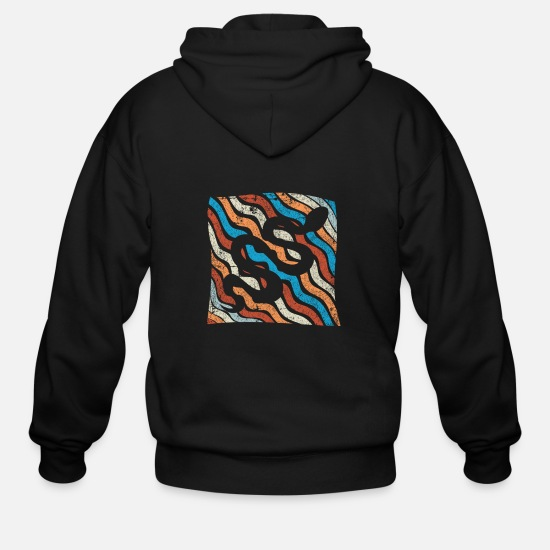 Rattlesnake Hoodies & Sweatshirts - Snake poison animal gift - Men's Zip Hoodie black