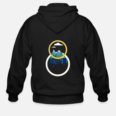 Circle Circles - Men's Zip Hoodie