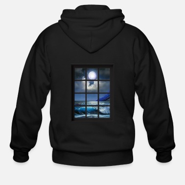 Ocean Breeze Mind At Ease Ocean Beach Window Print 1 - Men's Zip Hoodie