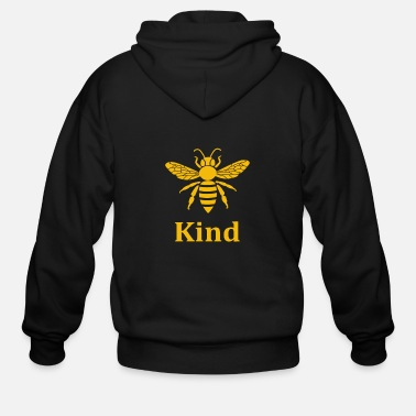 Honey Comb bee kind funny beekeeper beekeeping bee honey comb - Men's Zip Hoodie