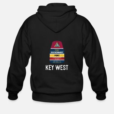 Florida Southernmost Point - Key West Florida Keys Souvenir for Island Lovers - Men's Zip Hoodie