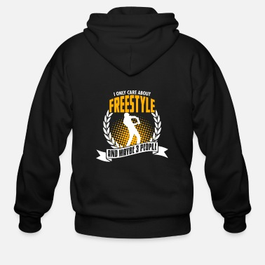 Hobby I Only Care About Freestyle - Men's Zip Hoodie