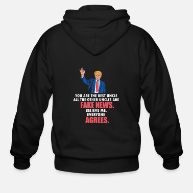 Fake Uncle Gifts - Funny Donald Trump USA Politics - Men's Zip Hoodie
