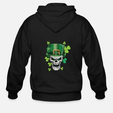 Parade Parade Green Beer Skull Paddy Hat Shirt & Gift - Men's Zip Hoodie