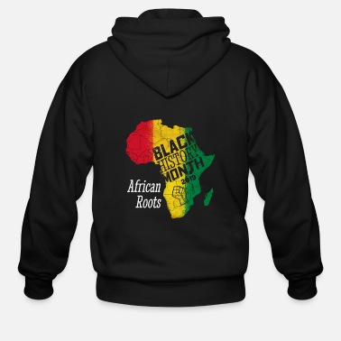 Black Power Black History Month 2019 African Roots Gift - Men's Zip Hoodie
