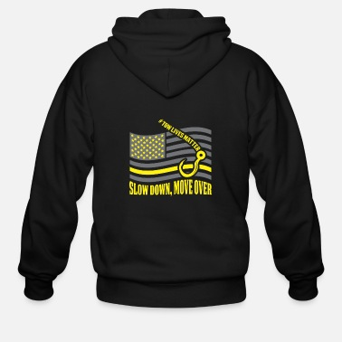 Move Tow Truck Operator Gift Slow Down Move Over Cool - Men's Zip Hoodie
