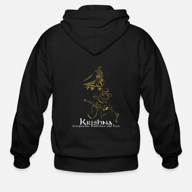 Pay Lord Krishna Design | Hinduism Gift for Believers - Men's Zip Hoodie