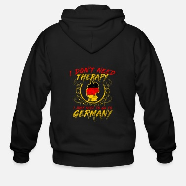 Frankfurt Therapy Germany Heart City Land Gift - Men's Zip Hoodie