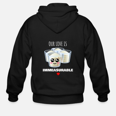 Pun Our Love Is Immeasurable Cute Measuring Cup Pun - Men's Zip Hoodie