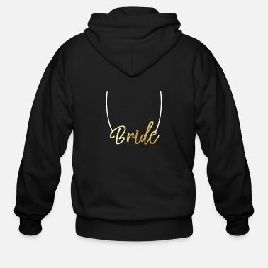 Bachelorette bride gold bachelorette party wedding gift - Men's Zip Hoodie