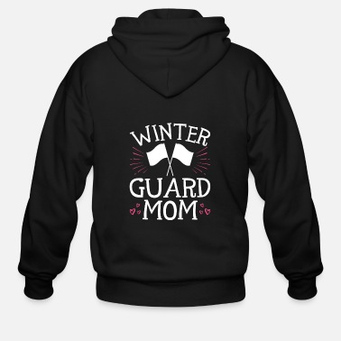 Winter Winter Guard Mom - Men's Zip Hoodie
