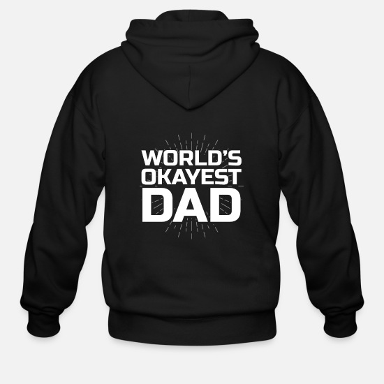 Gift Idea Hoodies & Sweatshirts - father man daddy son daughter parents child - Men's Zip Hoodie black