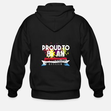 Computer Proud to be a software developer citizen - Men's Zip Hoodie