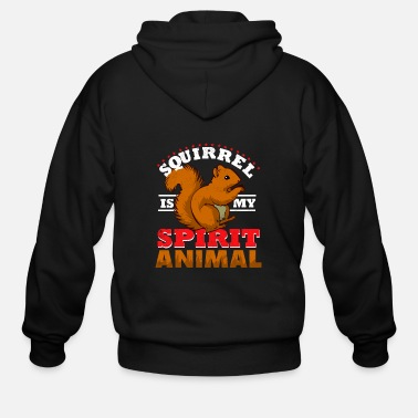 Little squirrel - is pretty similar to me - Men's Zip Hoodie