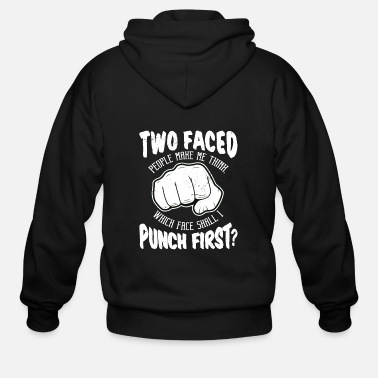 Punch Punch punch fist - Men's Zip Hoodie