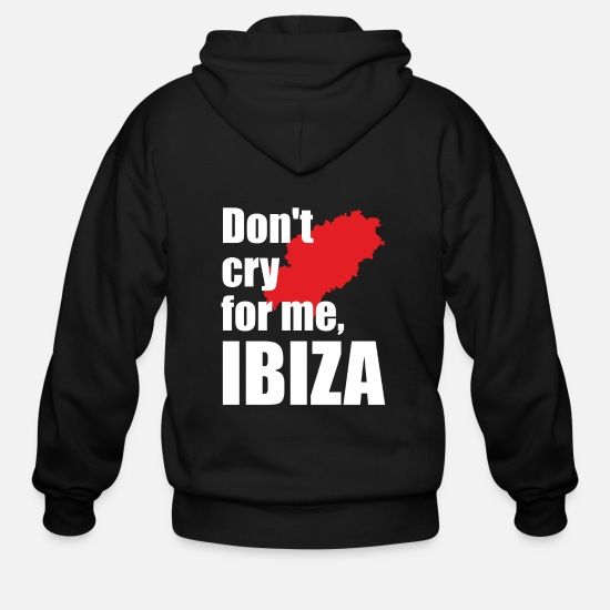 Alcohol Hoodies & Sweatshirts - Don't cry for me, Ibiza - Memories of Ibiza Sea - Men's Zip Hoodie black