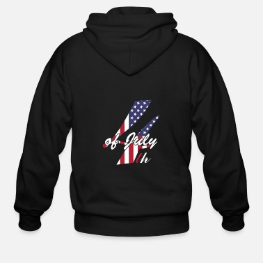 Santa Claus Independenceday - Men's Zip Hoodie