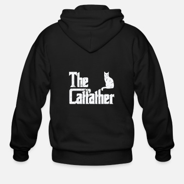 Fur The Catfather Funny Cat Lover Fathers - Men's Zip Hoodie
