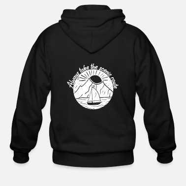 Take Always Take the Scenic Route - Men's Zip Hoodie