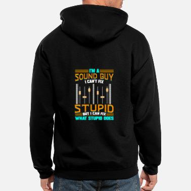Sound Sound Engineer Music Production DJ Audio Guy - Men's Zip Hoodie