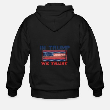 World Champion Trump, USA 2020, PRESIDENTIAL ELECION - Men's Zip Hoodie