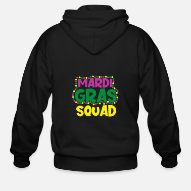 Cake Mardi Gras NOLA Fat Tuesday Parade - Men's Zip Hoodie