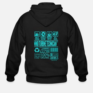 Day Wind Turbine Technician Gift - Men's Zip Hoodie