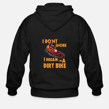 Motocross Awesome Motocross Gift Design Dream Im A Dirt - Men's Zip Hoodie