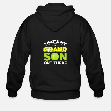 Yell Tennis - That's My Grandson Out There - Men's Zip Hoodie
