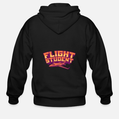 Pilot FLIGHT STUDENT JET Flight Student Gift For Pilot - Men's Zip Hoodie