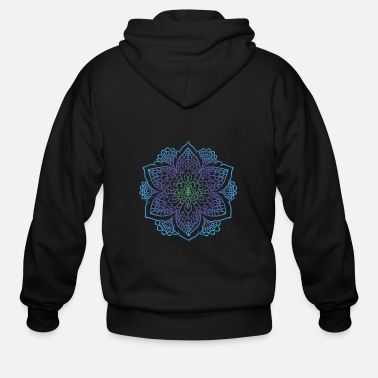 Painting Mandala art drawing for gift - Men's Zip Hoodie