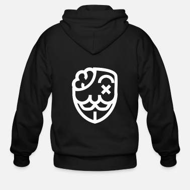 Mens Animal Totem Black Mask Hoodie Sweater Black