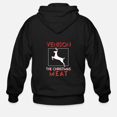 Meat Deer Hunter Christmas Venison Christmas Meat - Men's Zip Hoodie