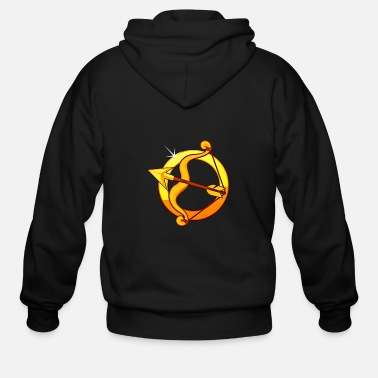 Wheel Sagittarius 2 (isolated) - Men's Zip Hoodie