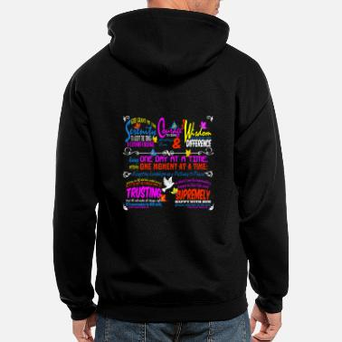 Serenity SERENITY PRAYER - Men's Zip Hoodie