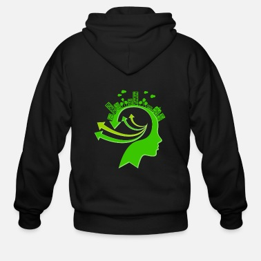 Ecology Ecology Concept Illustration - Men's Zip Hoodie
