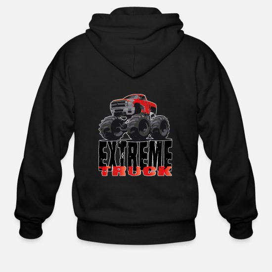 Extreme Hoodies & Sweatshirts - Monster Truck extreme - Men's Zip Hoodie black