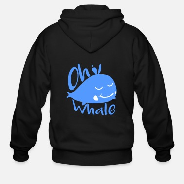 Whale - whale - oh whale! - Men's Zip Hoodie
