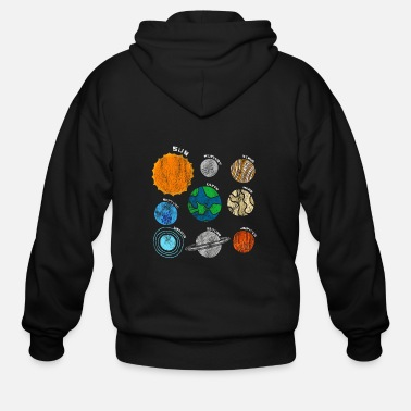 Planets Of Our Solar System Outer Space T-shirt - Men's Zip Hoodie