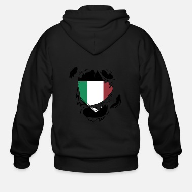 Schland Proud Italian flag - Awesome Italian flag t - sh - Men's Zip Hoodie