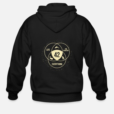 Guide Universe - the answer to life universe and every - Men's Zip Hoodie