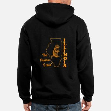 Illinois illinois, the prairie state - Men's Zip Hoodie