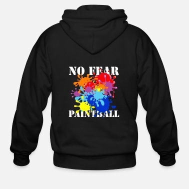 Paintball No Fear Paintball - Men's Zip Hoodie