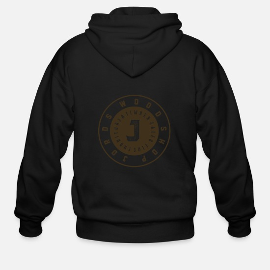 News Hoodies & Sweatshirts - JordsWoodShop New Age Logo Round - Men's Zip Hoodie black