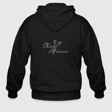 Miss Scissors Rhinestone - Men's Zip Hoodie