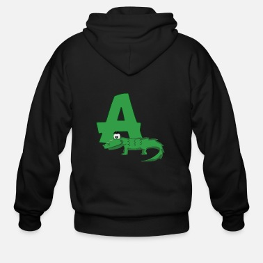 Alligator A Is For Alligator - Men's Zip Hoodie