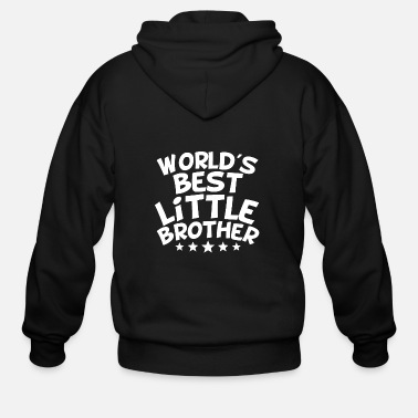 Best Little Brother World's Best Little Brother - Men's Zip Hoodie