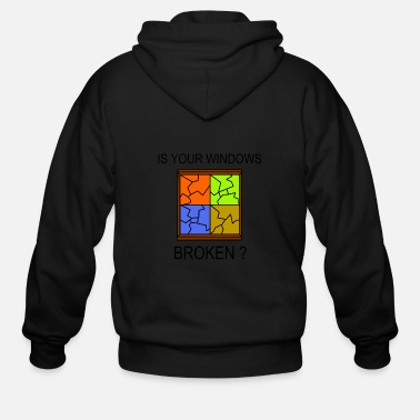 Windows Broken Windows - Men's Zip Hoodie